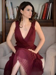 Beren Saat-Bordo Elbise