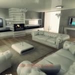 2015 dekorasyon beyaz salon konsepti