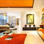 modern turuncu ev dekorasyonu