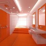 turuncu banyo dekorasyonu