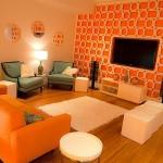 turuncu ev dekor