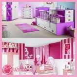 mondi Kız Bebek Odası Dekorasyonu