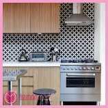 siyah beyaz renkte 2015 Mutfak Seramikleri