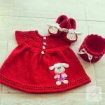 Örgü/tığ işi bebek elbiseleri, örgü videoları