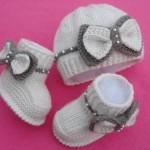 Pembe Kız Bebek Patik Ve Bere Modelleri