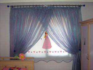 rustik bebek odası perdeleri - 1