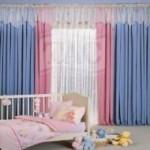 Rustik bebek odası perdeleri - 2
