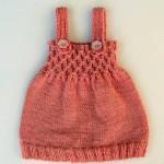 Kız Bebek Örgü El İşi Çok Güzel Elbise Modelleri